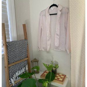 Pajama button up silky lingerie top
